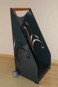 wózek na drewno kominkowe