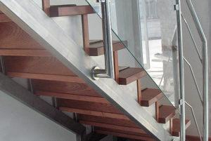 balustrada kombinowana stal nierdzewna - szkło